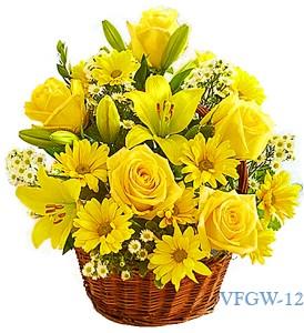 Basket Of Smile Floral Arrangement