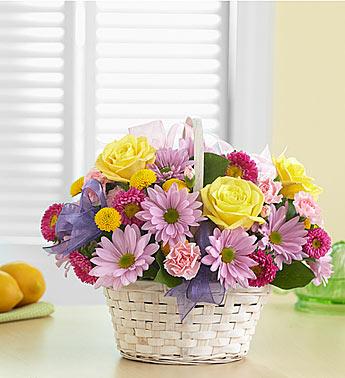 Basket of Spring Arrangement