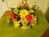 Basket of Spring Fresh Arrangement