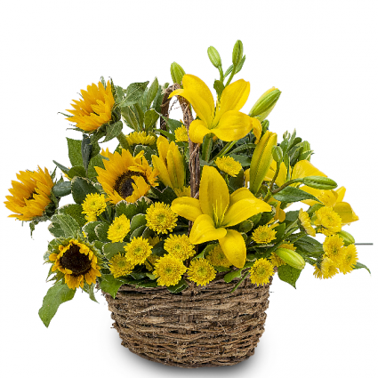 Basket of Sunshine Arrangement