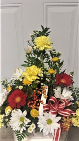 Basket of sunshine basket arrangement