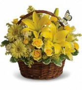 Basket of Sunshine Floral Bouquet