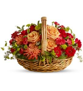 Basket Of Warm Love Basket Arrangement in Tulsa, OK | THE WILD ORCHID FLORIST