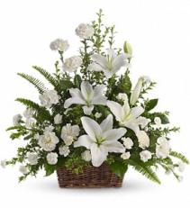 Basket Of White Basket Arrangement
