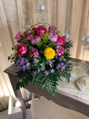 Basketful of Blooms  in Houston, TX | FLOWER FACTORY PLUS