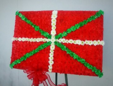 Basque flag Floral tribute
