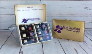 His & Hers Wine & Liquor Filled Chocolates Add to any floral order in Culpeper, VA | ENDLESS CREATIONS FLOWERS AND GIFTS