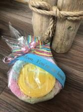 Bath Bomb & Fuzzy Facecloth for Mom  Mother's Day Giftware