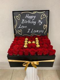 Lovely Roses Roses with Ferrero