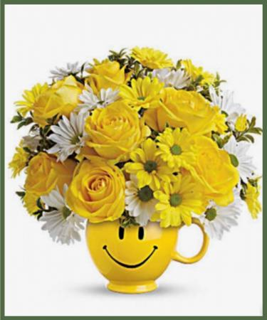 Be Happy Bouquet with Roses