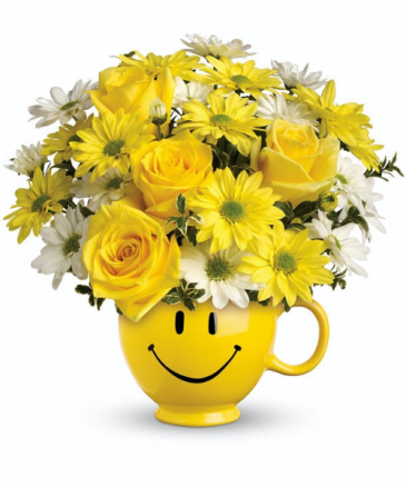 Be Happy Bouquet with Roses Anytime