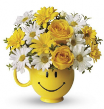 Be Happy® Bouquet with Roses Arrangement