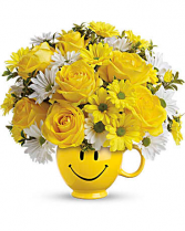 Be Happy Bouquet with Roses Get Well