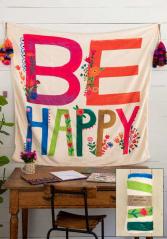 Be happy fleece blanket