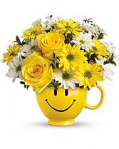Be Happy Mug Keepsake Container