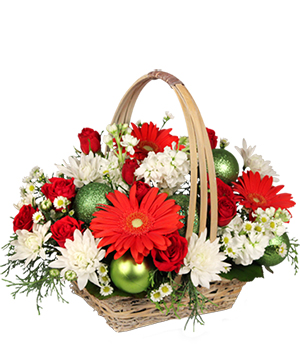 Be Jolly Basket Holiday Flowers in Cary, NC | GCG FLOWERS & PLANT DESIGN
