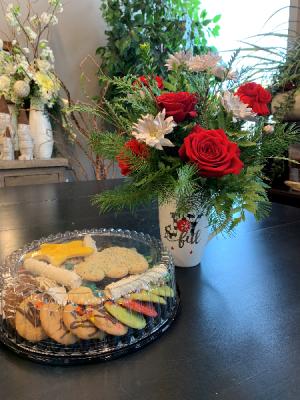 Be Joyful Mug Arrangement and Cookies in Bemidji, MN | NETZER'S FLORAL