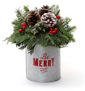 Be Merry Centerpiece  in Burns, OR | 4B Nursery And Floral