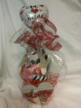 Be Mine Basket Arrangement