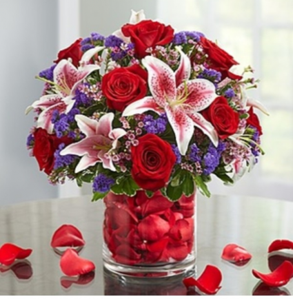 Be Mine™ in Rose Petals Arrangement