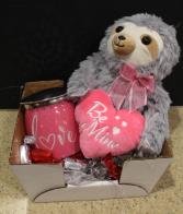 Be Mine Pink Gift Basket