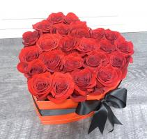 Charming Roses in a Heart Box ***LOCAL DELIVERY ONLY***