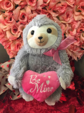 Be mine sloth plushie