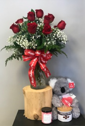 """""""Be Mine"""" Ultimate Gift Flowers & Gift Combo"""