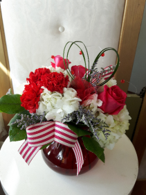 Be Mine Valentine  Vase arrangement