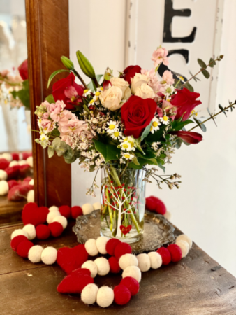 Be Mine Valentines arrangement