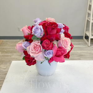 Be Mine Vase Arrangement in Middletown, NJ | Fine Flowers