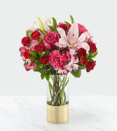 Be My Beloved Bouquet Mixed Arrangment of Roses, Tea Roses, Carnations and Lillies