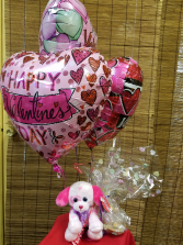 Be My Cookie Balloon Bouquet With Cute Puppy