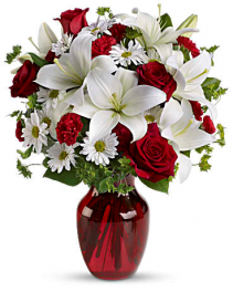 Be My Love Bouquet Vase Arrangement