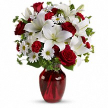 Be My Love by Teleflora Vase Arrangement