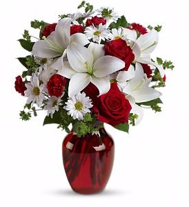 Be My Love Vase arrangement in Calgary, AB   Petals 'N Blooms