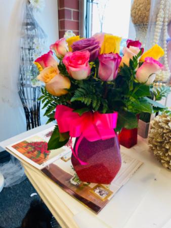 Be my sweetheart  Med Purple vase