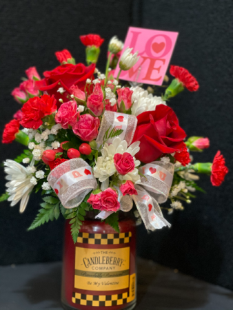 Be My Valentine Candle Bouquet  Valentine's Day
