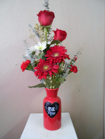 Be My Valentine vase