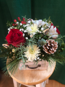 Be Present Vintage Box Arrangement