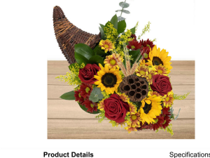 Be Thankful  Cornucopia filled with flowers in Fairfield, OH | NOVACK-SCHAFER FLORIST