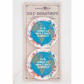Be the change double car coaster