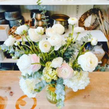 Be the reason someone smiles today White ranunculus