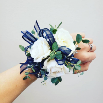 Beaded Bling Wrist Corsage