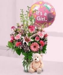 Bear, Balloon & Blooms Mixed Flowers