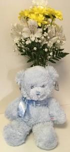Bear Bud Vase Arrangement