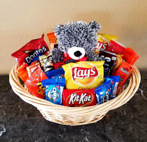 Bear Goodie Basket Exclusively at Mom & Pops in Ventura, CA | Mom And Pop Flower Shop