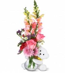 Bear Hug Vase Arrangement