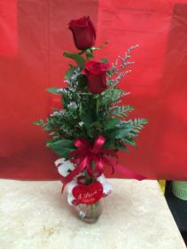 Bear Huger Bud vase Special Valentine's Day