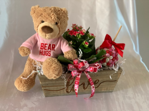 Bear Hugs Valentine's Day in Pittsboro, NC | Blossom Floral Artistry
